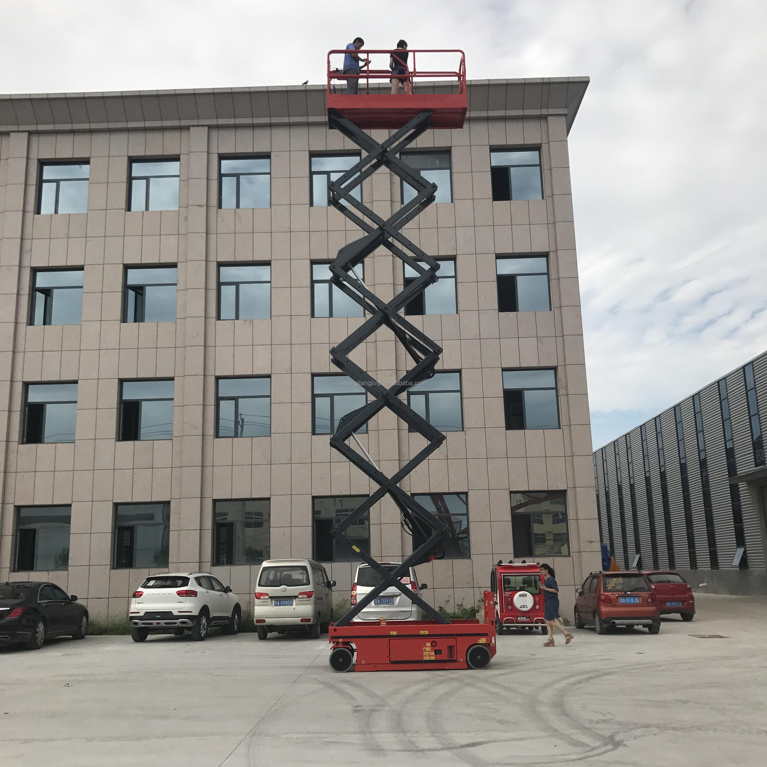 Vier Wielen 10 Meter Hydraulische Zelfrijdende Elektrische Schaarlift