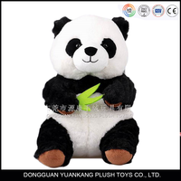 high quality quality stuffed panda toys with no minimum for EN71/ICTI/ASTM approval