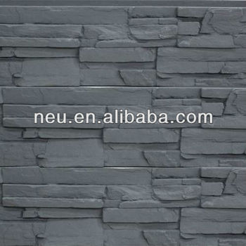Pu Faux Stone,Decorative Building Material,Plastic Stone Wall Panel ...