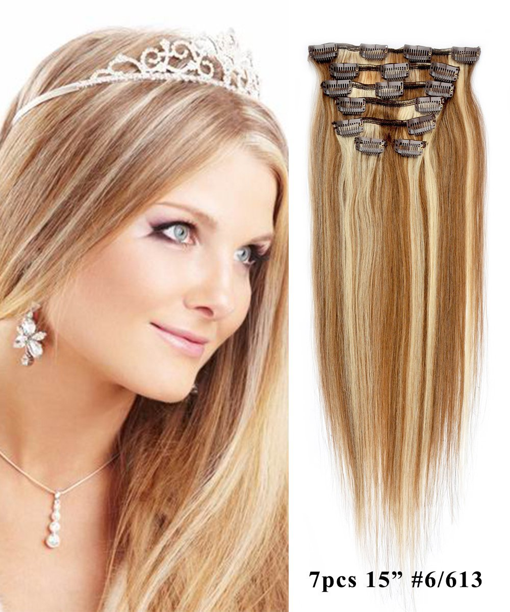 Buy Mike Mary Straight Hair 15 Clip In Hair Extensions 7pcs Set