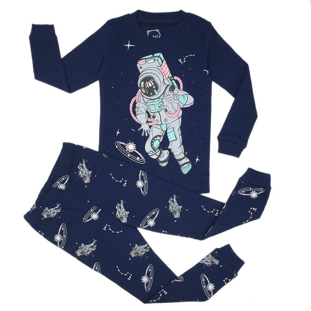 Get Quotations · Kedofe Boys Pajamas Sets 100% Cotton Long Sleeve Kid PJS  Toddler Sleepwears db7884ecf