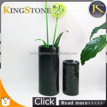 Elegant Black Marble Stone Flower Vessel Vase Buy Natural Stone