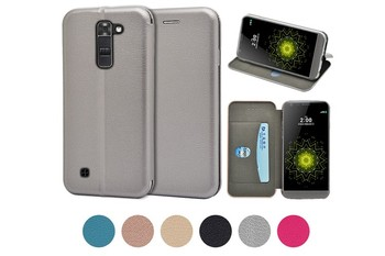 For LG K7 case, Unique good quality full covered curved wallet PU case for LG K7