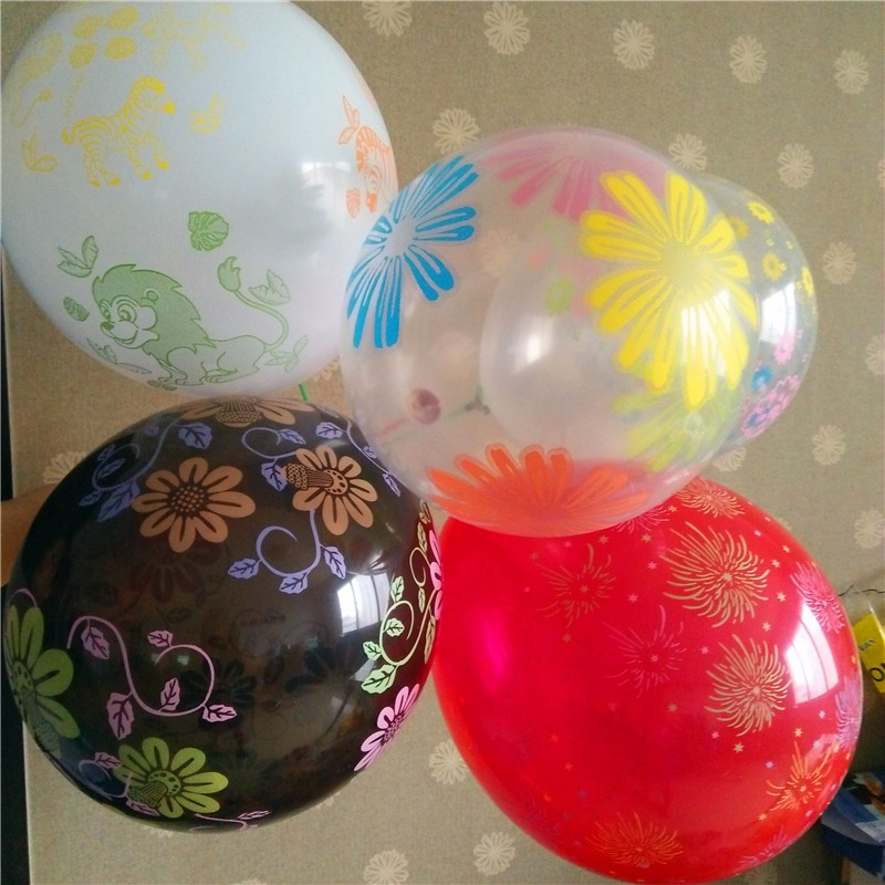 factory price 12inch round shape printed latex balloon with logo toys for kids