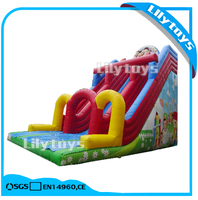 Lilytoys new design colorful tarpaulin made giant inflatable slide for sale