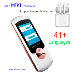 portable voice translator device pocket multi language smart MIKI Translator ili off line bluetooth headset