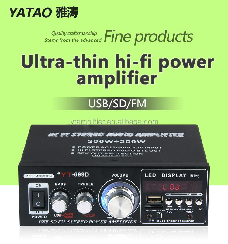 Karaoke Audio System Music 200 Watt Amplifier Yt-699d Support Usb Sd - Buy  Karaoke Amplifier,Usb Sd Speaker,Usb Sd Card Player Amplifier Product on