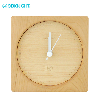 Latest design fashion real cherry maple wooden table alarm clock decoration