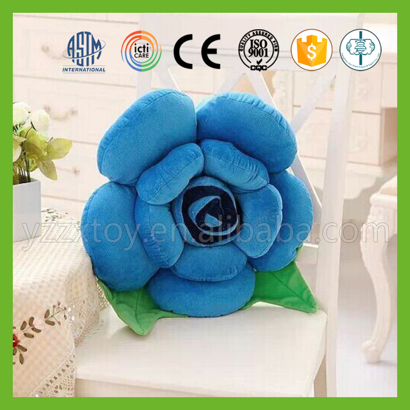 Cheap wholesale outdoor christmas rose plush throw body pillows