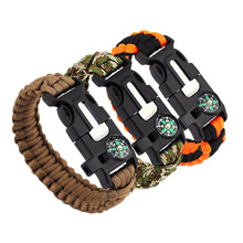 Outdoor Multifunctionele Survival <span class=keywords><strong>Armband</strong></span> Camping <span class=keywords><strong>Kompas</strong></span> Fluitje Voor Levensreddende Paracord <span class=keywords><strong>Armband</strong></span>