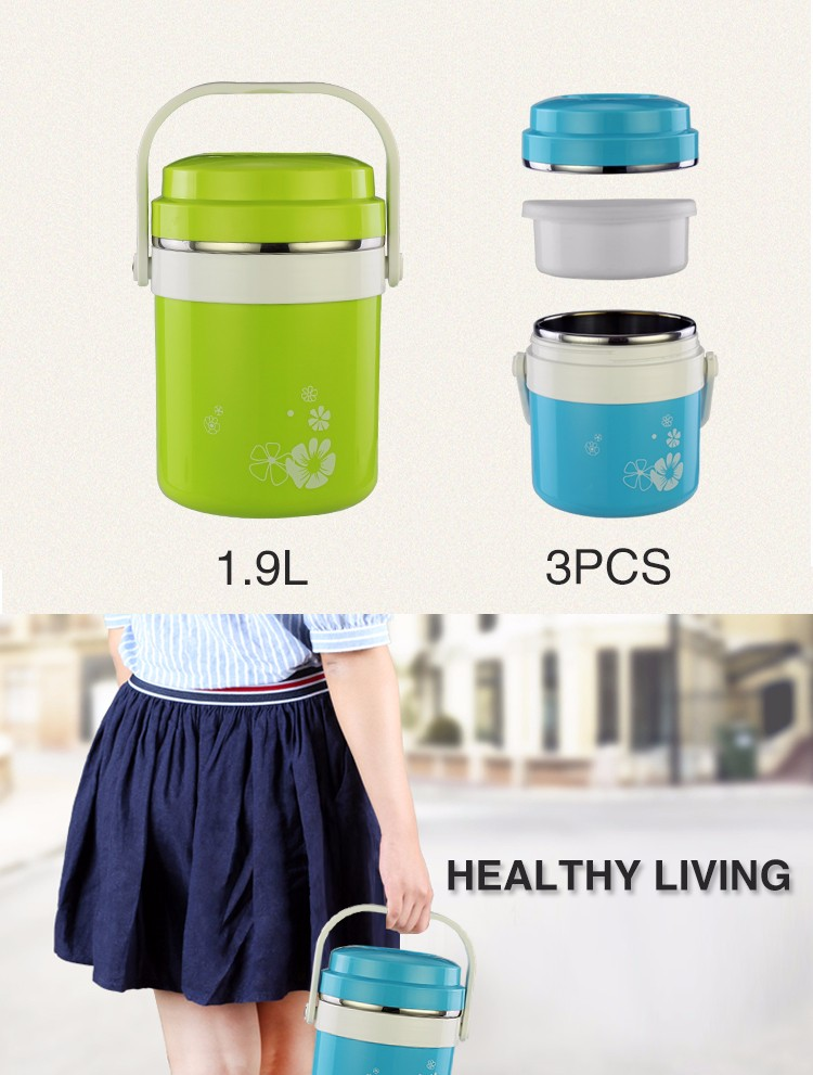 2017 Best selling insulated vacuum food container pot stainless steel thermos lunch box