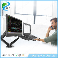 JEO 360 degree rotation YS-GM224U-D computer and laptop monitor stand