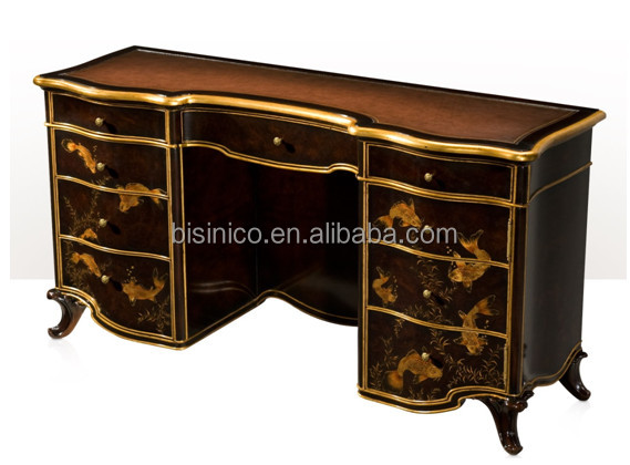 Vintage Lacquer Wooden Dressing Table, Gold Painting Bedroom Furniture Set,  Retro Lacquer Painted Dresser, View Royal Furniture Antique Gold Bedroom  Sets, ...