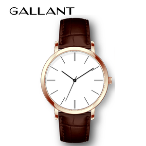 Cheap quartz movement watch, couple watch with leather strap