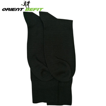 Wholesale eco-friendly breathable Sweat-Absorbent black crew bamboo work socks for men