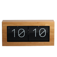 China manufacturer with CE&ROHS patented flip wooden box desk clock for home decoration