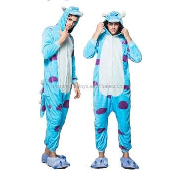 Wholesale hoodies Sully animal onesie Pijamas Animal conjoined pajamas  Sleepwear in pajamas 8a9432380165