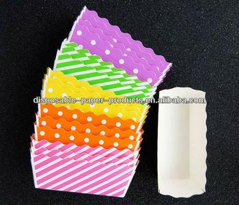 Disposable Rectangular Paper Loaf Baking Pans Baking