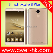 Mate 8 Plus Android 5.1 most slim 6 inch screen mobile phone Dual SIM Quad core 1GB RAM 8GB ROM WIFI GPS upcoming smartphones