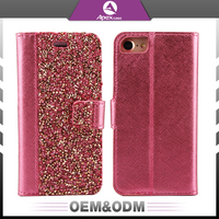 New Bling Diamond PU leather Full Protective Phone Case with Card Slot for Samsung