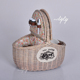 Wholesale cheap round woven bamboo gift fruit vegetable storage hamper hand-weaving wicker material oval picnic baskets