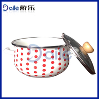 Enamelware Casserole cookware set removable handles