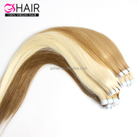 2017 Highest Quality remy natural tape in hair extensions