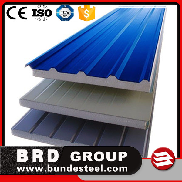 High quality 50-150mm EPS sandwich roofing panels/sheets