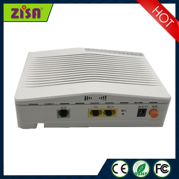ZISA OP153-C GPON ONU optical network unit apply to FTTH FTTO modems, single GE port , white, SC/APC input, English