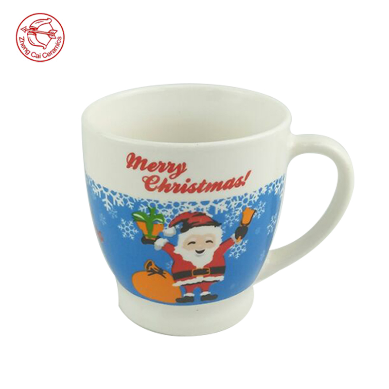 Competitive cartoon ceramic mug in USA hot sale christmas gift ceramic santa mugs coffee cup