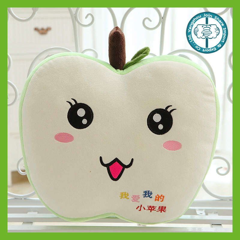 Wholesale promotional hot sale apple shape stuffed pillow