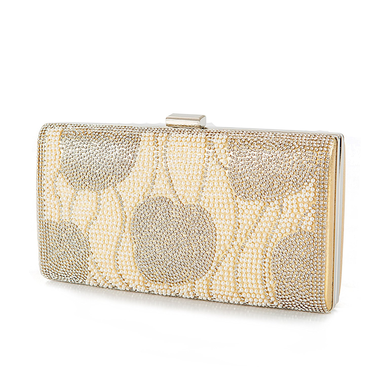 348aad2d41a6 Get Quotations · Champagne Crystal Clutch