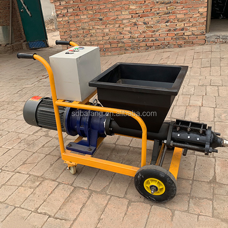 Screw type high pressure mortar spraying machine
