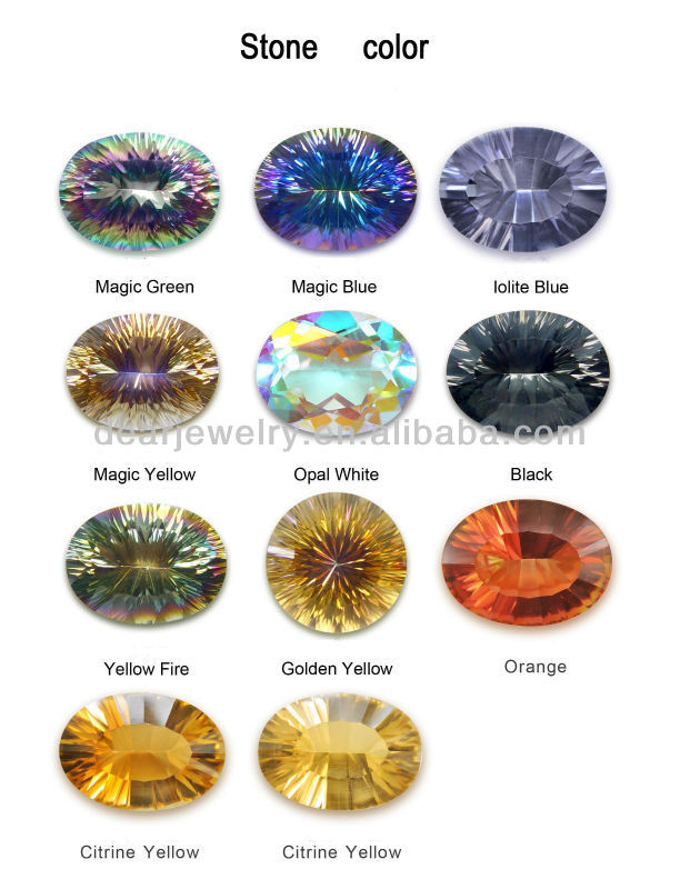gems fire topaz rainbow ring iobi heart cut feshionn solitaire precious rings genuine mystic products