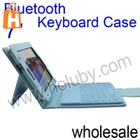 "Univesal Stand Leather Case & Bluetooth Keyboard For 7"" Tablet PC Samsung Galaxy Tab P3100 P6200"