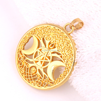 Huilin charm gold and sliver plated pendants crescent moon and star pendants