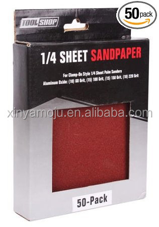 1/4 Sheet Sandpaper - 50 Pack