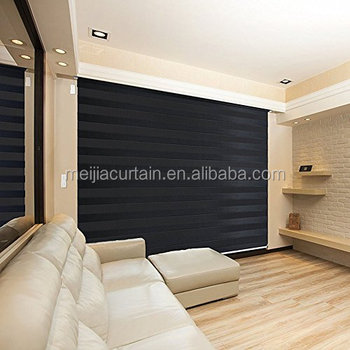 European Style High Quality ZEBRA BLINDS Polyester Rainbow Series Zebra Curtain Blinds/Double Roller Blind
