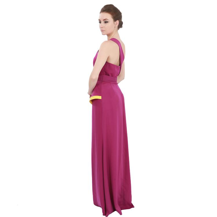 Hot Pink Quinceanera Un Hombro Patrones Del Vestido De Boda Vestido ...