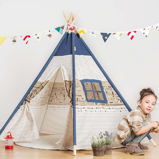 New Canvas Kids Play Teepee Baby game house Children toys tents