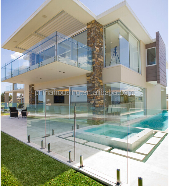 Glass Staircase Balustrade Kit: Interior Glass Railing Wood Stair Kit Cantilever Stairs