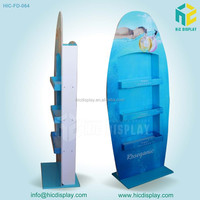 HIC cardboard display for hair dyes, olive shampoo display stand
