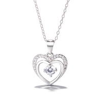 Wholesale Fashion Jewelry 925 Silver Heart Pendant necklace