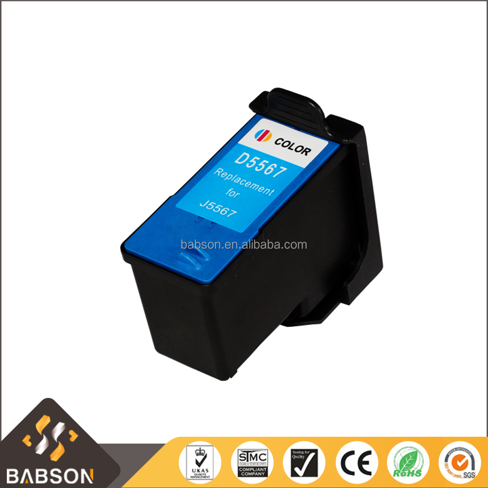 Compatible color ink cartridge D5567 for Dell J5567 directly sale from China