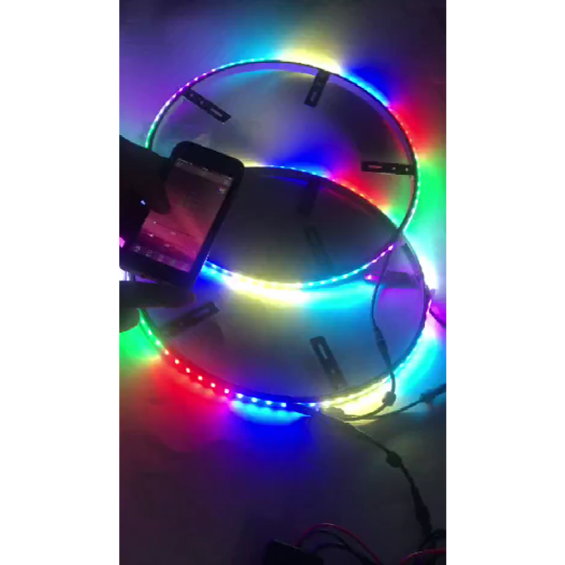 Tooth Dream Color Controller Kingshowstar 4pc 288LED RGB Dream Color Wheel Lighting kit with Blue