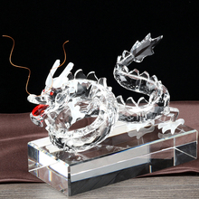Newest Chinese Zodiac crystal glass dragon figure with stand
