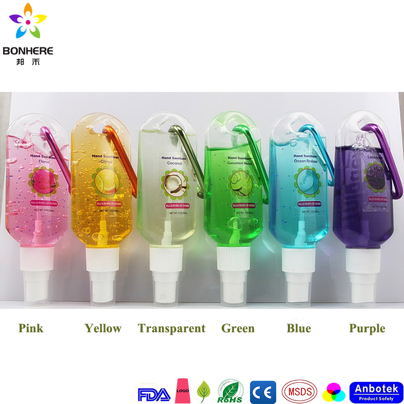 50ml Waterless Instant Pocket Bulk Travel Size Hand Sanitizer With Clip