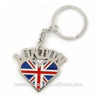 Customized shaped London souvenir keychain for travel gift