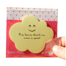 Fancy koelkast custom logo cloud sticky notes <span class=keywords><strong>memo</strong></span> <span class=keywords><strong>pad</strong></span> voor school office