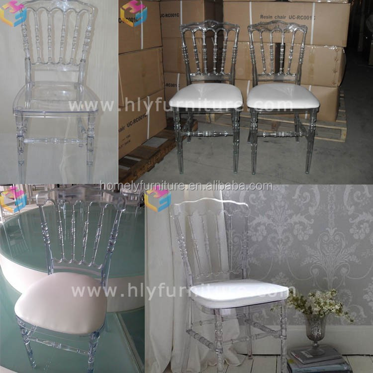 Cheap used white resin tiffany chair